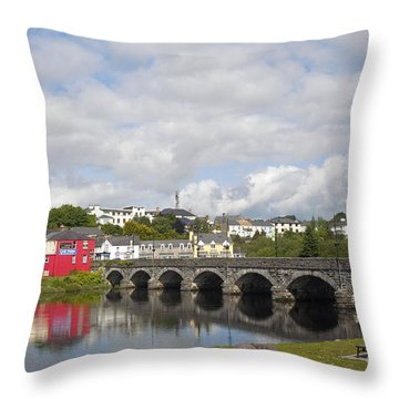 Killorglin Bridge Throw Pillow
