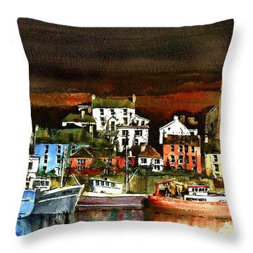 Killybegs Harbour, Donegal. Throw Pillow
