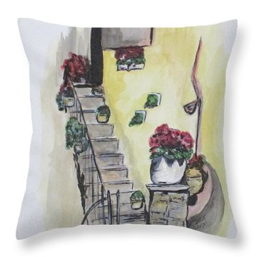 Kimberly's Castellabate Flowers Throw Pillow