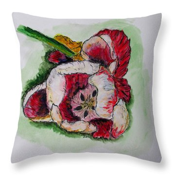 Kimberly's Flowers Throw Pillow