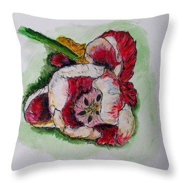 Kimberly's Flowers Throw Pillow