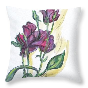 Kimberly's Spring Flower Throw Pillow