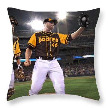 Kimbrel In Relief Throw Pillow