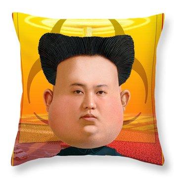 Kim Jong Un 2016 Throw Pillow