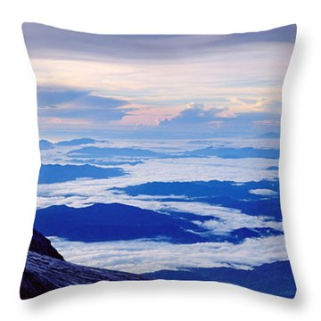 Kinabalu Panorama Throw Pillow