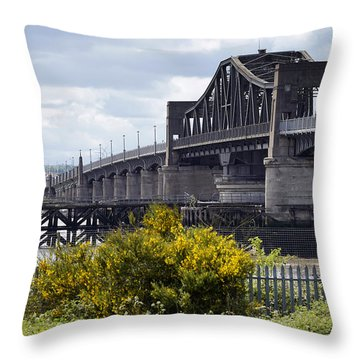 Throw Pillow featuring the photograph Kincardine Bridge by Jeremy Lavender Photography