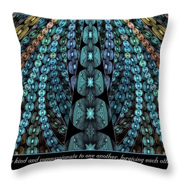 Kind And Compassionate Throw Pillow