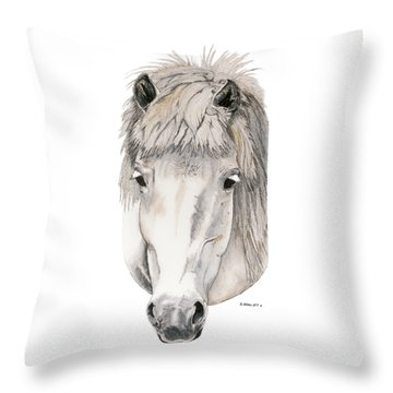 Throw Pillow featuring the painting Kind Eyes by Shari Nees