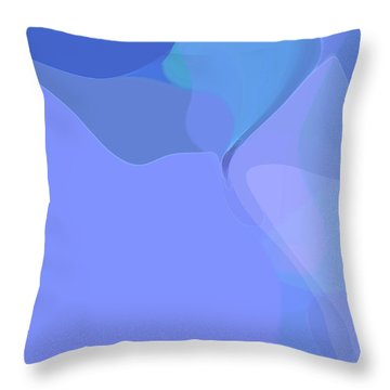 Throw Pillow featuring the digital art Kind Of Blue by Gina Harrison
