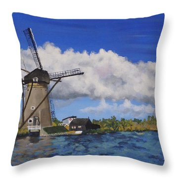 Kinderdijk Throw Pillow by Diane Arlitt