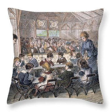 Kindergarten Cottage, 1876 Throw Pillow by Granger