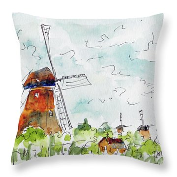 Kindersdijk Netherlands Throw Pillow
