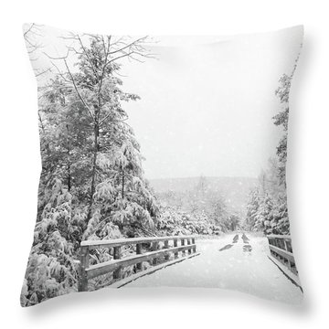 Throw Pillow featuring the photograph Kindness Is Like Snow by Lori Deiter