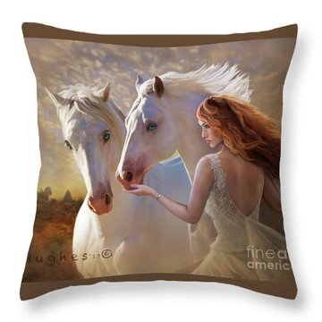 Throw Pillow featuring the digital art Kindred Spirits by Melinda Hughes-Berland