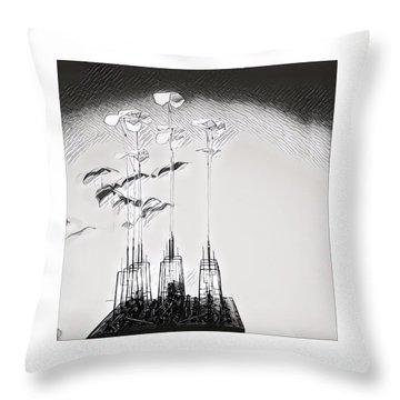 Kinetic Sculpture Throw Pillow