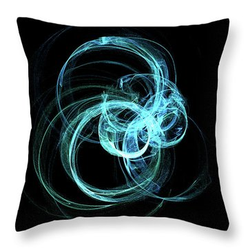 Throw Pillow featuring the digital art Kinetic09 by A Dx