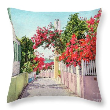 King And Crown Street Throw Pillow