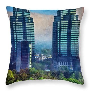 King And Queen Buildings Throw Pillow