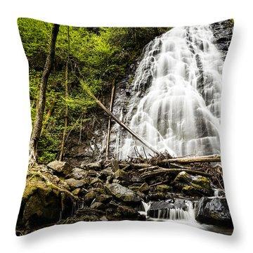 Crabtree Falls - Blue Ridge Parkway North Carolina Throw Pillow