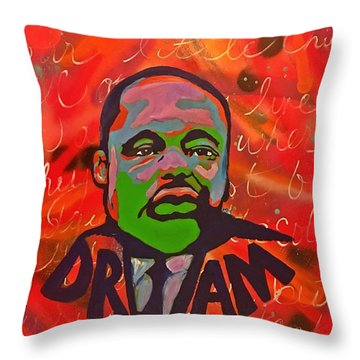 King Dreaming Throw Pillow by Miriam Moran