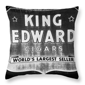 King Edward Cigars Throw Pillow by David Lee Thompson