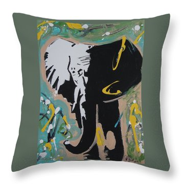 King Elephant Throw Pillow