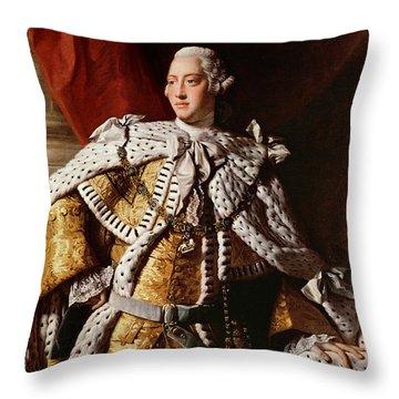 King George IIi Throw Pillow by Allan Ramsay