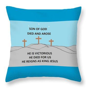 King Jesus Throw Pillow by Linda Velasquez