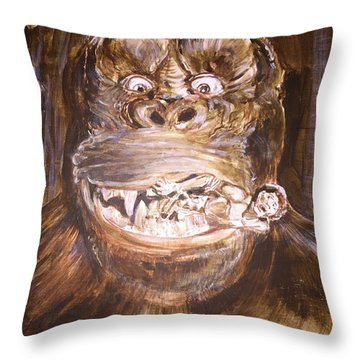 King Kong - Deleted Scene - Kong With Native Throw Pillow