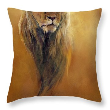 King Leo Throw Pillow by Odile Kidd