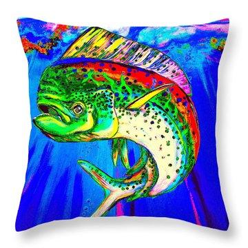 King Mahi-mahi Throw Pillow