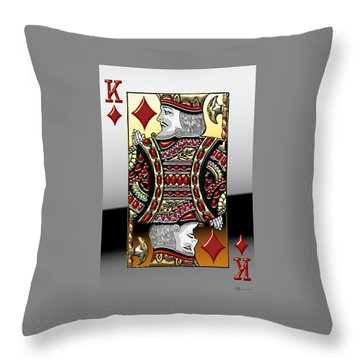 King Of Diamonds   Throw Pillow