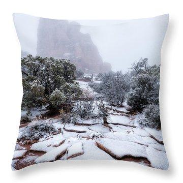 King Of Fog Throw Pillow