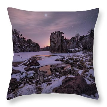 Throw Pillow featuring the photograph King Of Frost by Aaron J Groen