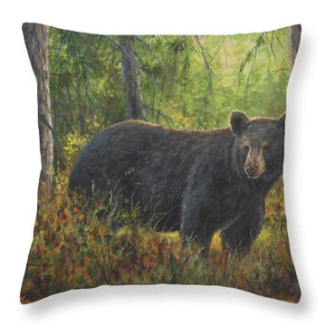 King Of His Domain Throw Pillow