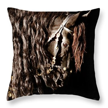 King Of Horses Throw Pillow