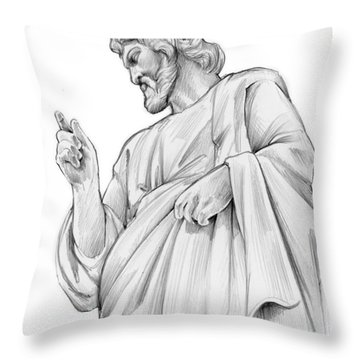 King Of Kings Throw Pillow