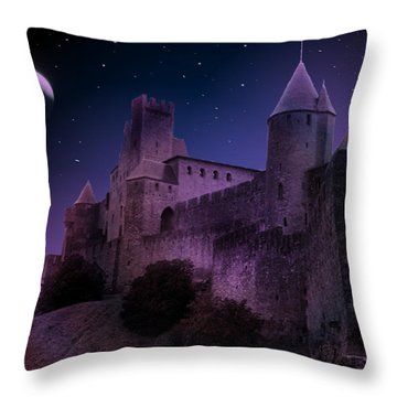 Throw Pillow featuring the photograph King Of My Castle by Bernd Hau