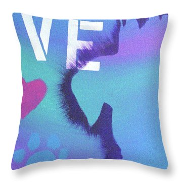 King Of My Heart Throw Pillow