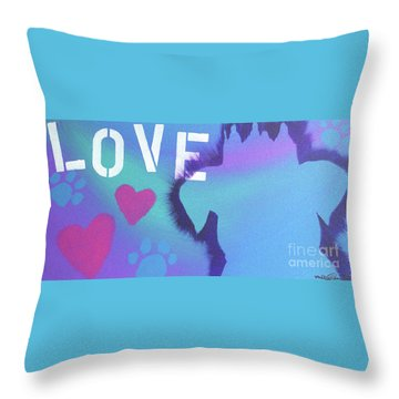Throw Pillow featuring the painting King Of My Heart by Melissa Goodrich