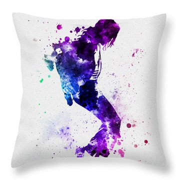 King Of Pop Throw Pillow by Rebecca Jenkins