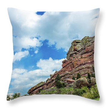 Throw Pillow featuring the photograph King Of Rocks by Tyson Kinnison