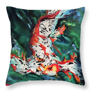 King Of The Pond Throw Pillow