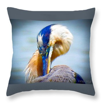King Of The River Throw Pillow