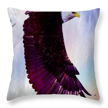 Throw Pillow featuring the painting King Of The Skies by Mark Taylor