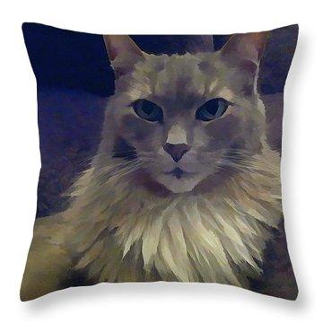 King Of The Sofa Throw Pillow