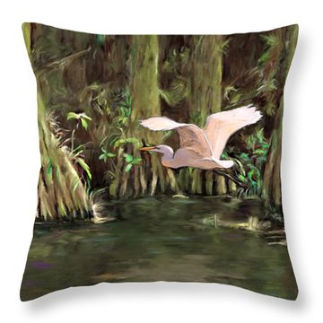 King Of The Swamp Throw Pillow