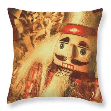 King Of The Toy Cabinet Throw Pillow