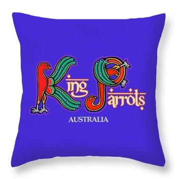 King Parrots Australia Throw Pillow