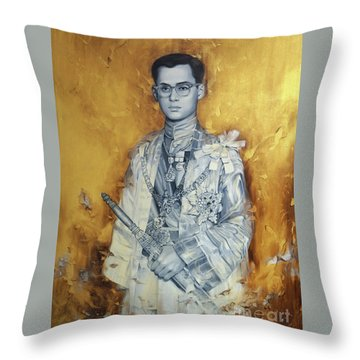 King Phumiphol Throw Pillow